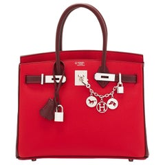 Hermes HSS Birkin 30cm Rouge Casaque Bordeaux Red Horseshoe VIP