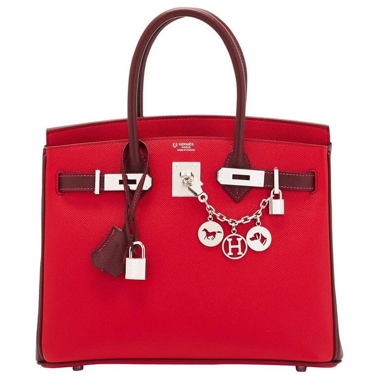 Hermes HSS Birkin 30cm Rouge Casaque Bordeaux Red Horseshoe VIP Y Stamp, 2020 For Sale