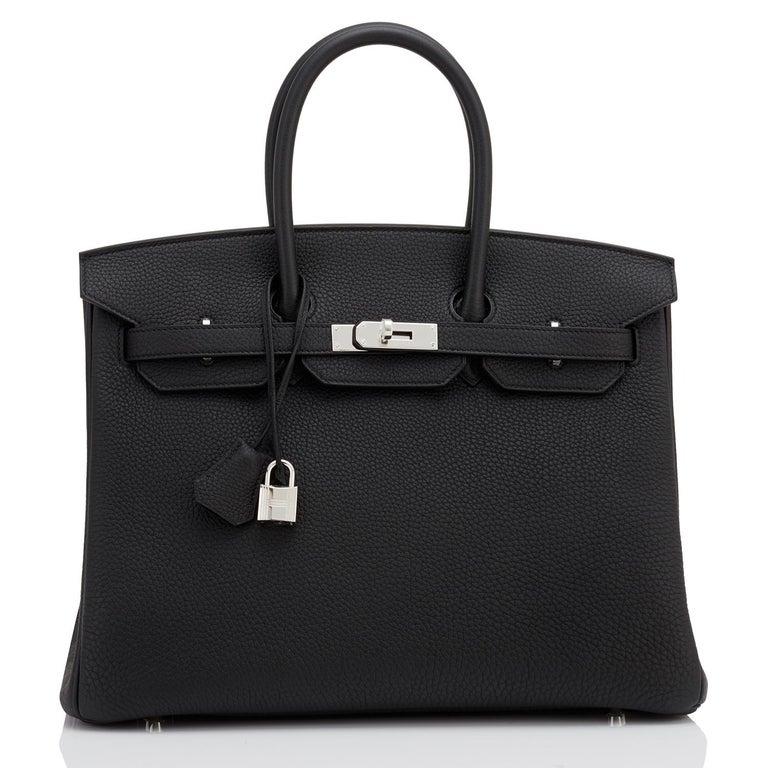 Hermes HSS Birkin 35 Black Indigo Blue Togo Bag VIP Exclusive Y Stamp, 2020 For Sale 6