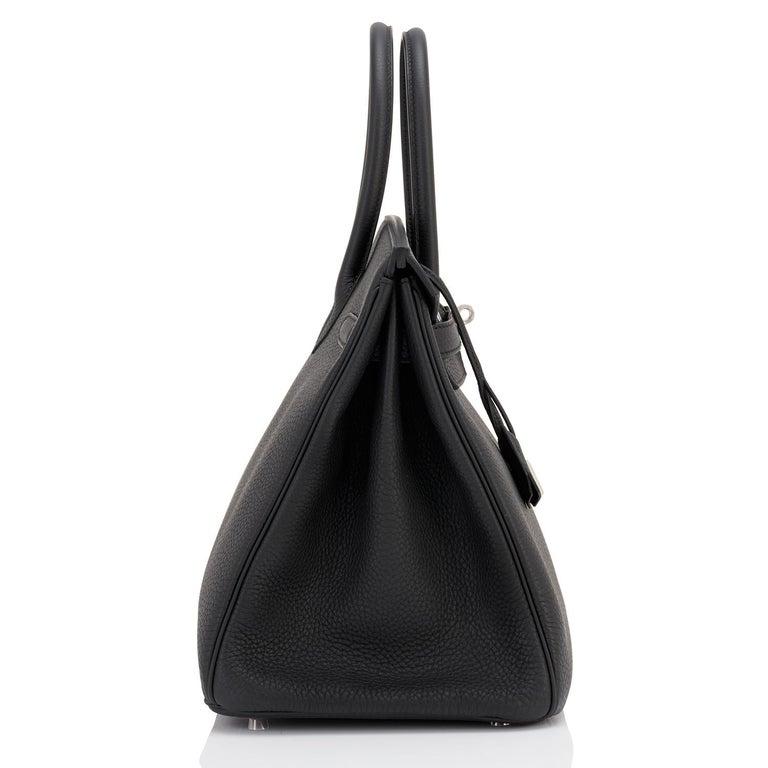 Hermes HSS Birkin 35 Black Indigo Blue Togo Bag VIP Exclusive Y Stamp, 2020 For Sale 7