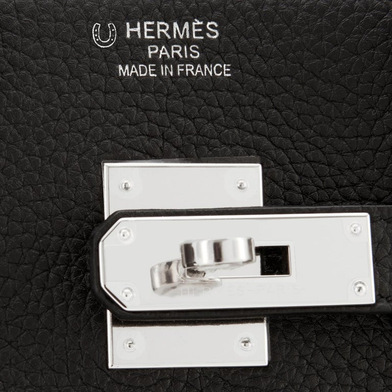 Women's or Men's Hermes HSS Birkin 35 Black Indigo Blue Togo Bag VIP Exclusive Y Stamp, 2020 For Sale