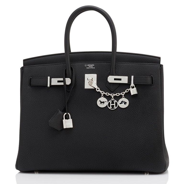 Hermes HSS Birkin 35 Black Indigo Blue Togo Bag VIP Exclusive Y Stamp, 2020 For Sale 1