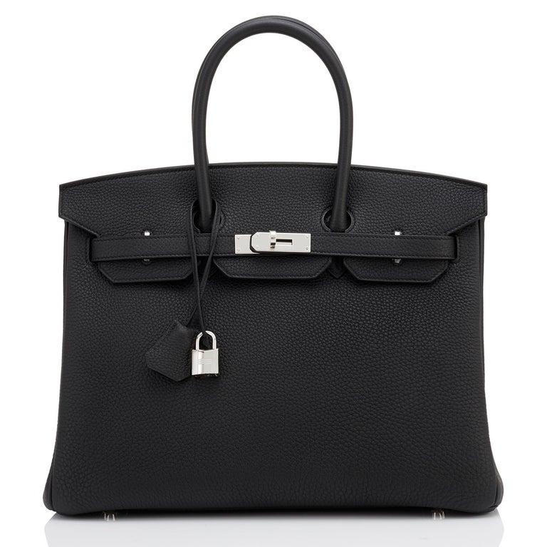 Hermes HSS Birkin 35 Black Indigo Blue Togo Bag VIP Exclusive Y Stamp, 2020 For Sale 2