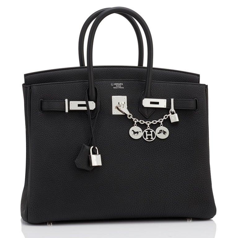 Hermes HSS Birkin 35 Black Indigo Blue Togo Bag VIP Exclusive Y Stamp, 2020 For Sale 3