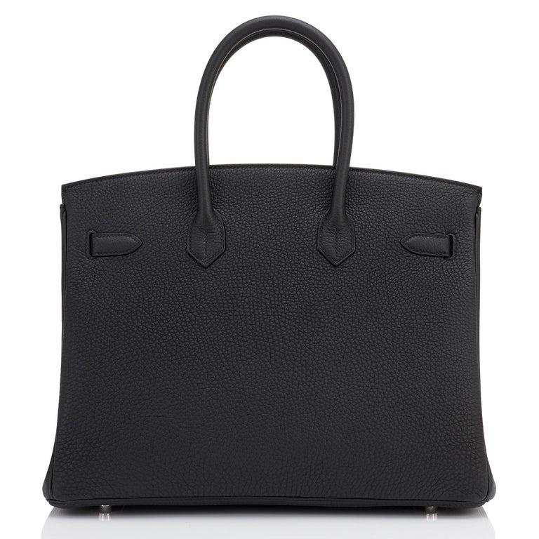Hermes HSS Birkin 35 Black Indigo Blue Togo Bag VIP Exclusive Y Stamp, 2020 For Sale 4