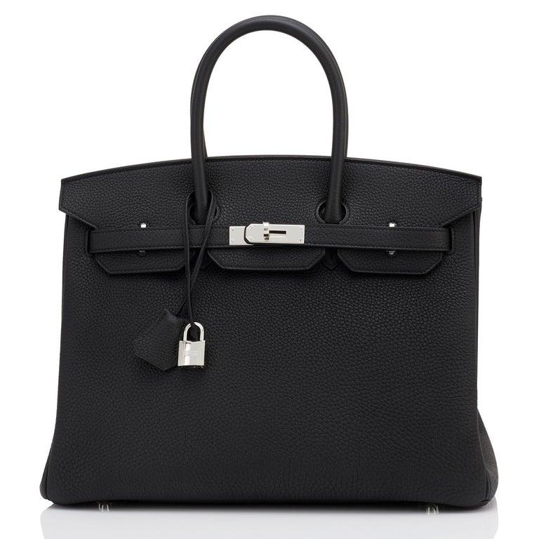 Hermes HSS Birkin 35 Black Indigo Blue Togo Bag VIP Exclusive Y Stamp, 2020 For Sale 5