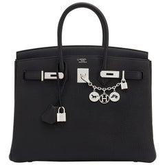 Hermes HSS Birkin 35 Black Indigo Blue Togo Bag VIP Exclusive Y Stamp, 2020