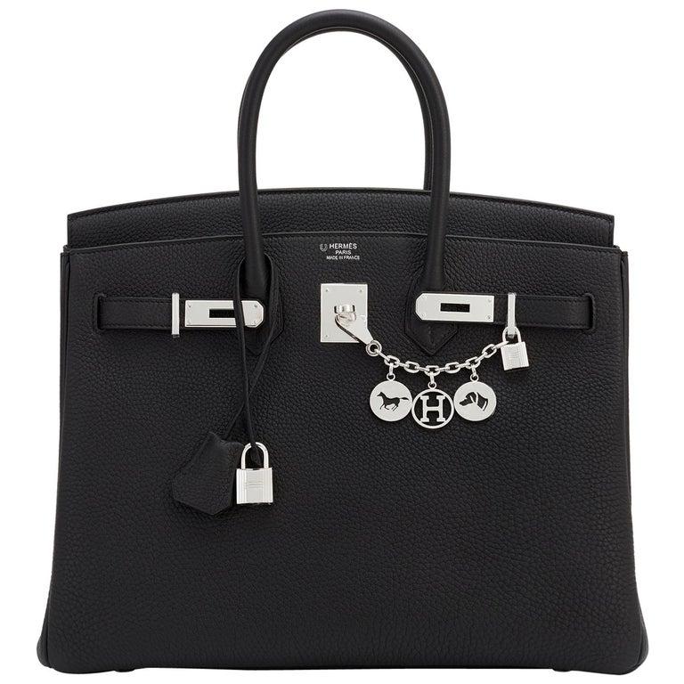 Hermes HSS Birkin 35 Black Indigo Blue Togo Bag VIP Exclusive Y Stamp, 2020 For Sale