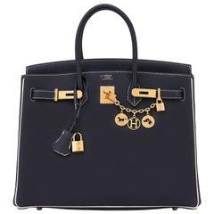 """Hermes HSS Birkin Black Craie """"Chalk"""" Off White 35cm Bag VIP World Exclusive"""