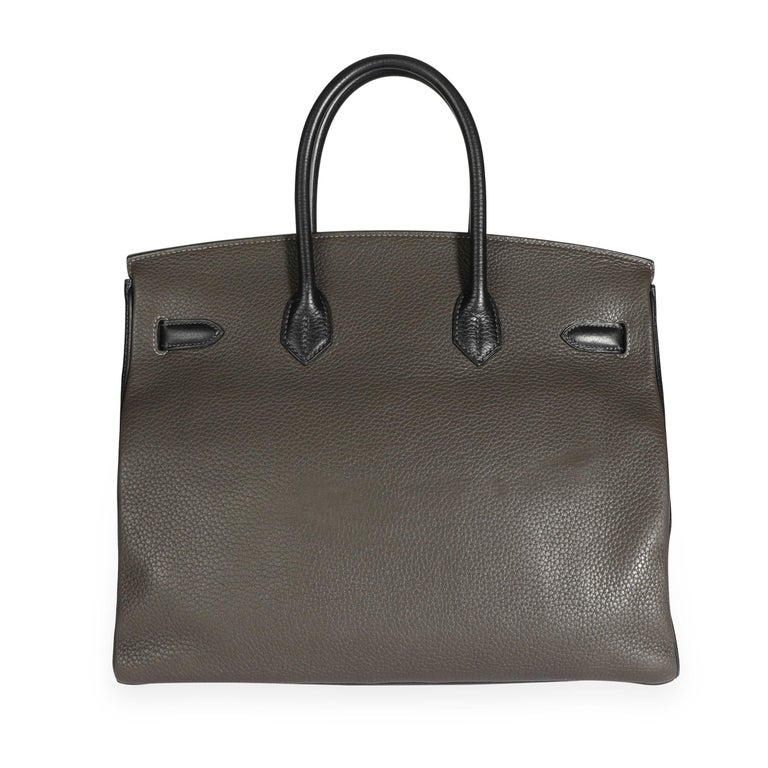 Hermès HSS Tricolor Togo Birkin 35 PHW In Good Condition For Sale In New York, NY