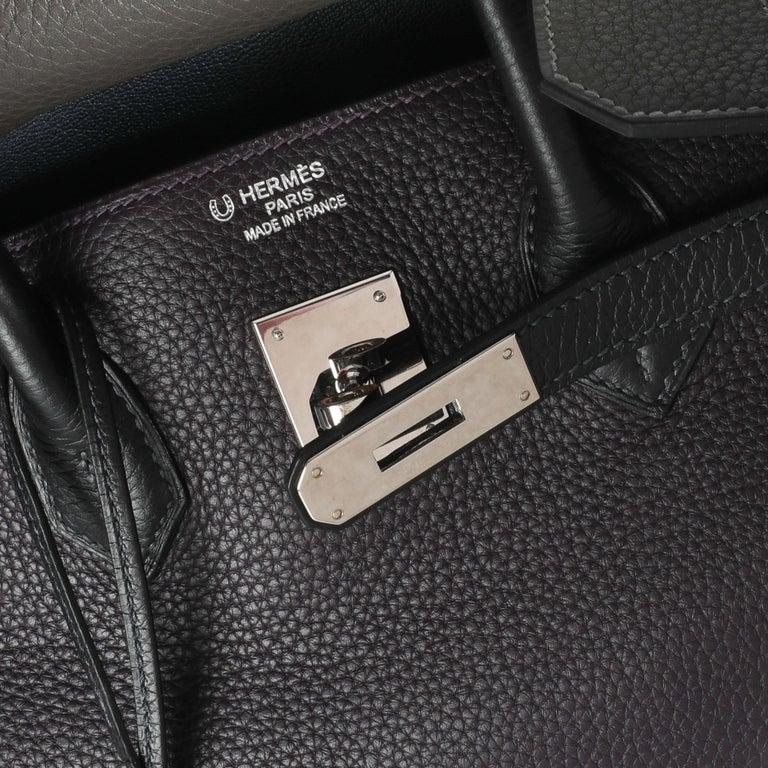 Women's Hermès HSS Tricolor Togo Birkin 35 PHW For Sale