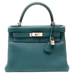 Hermès Indigo Togo Leather 28 cm Kelly with Palladium