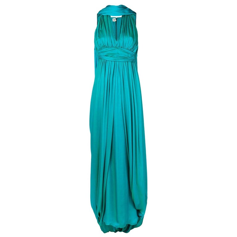 Hermes Iridescent Silk Gown For Sale