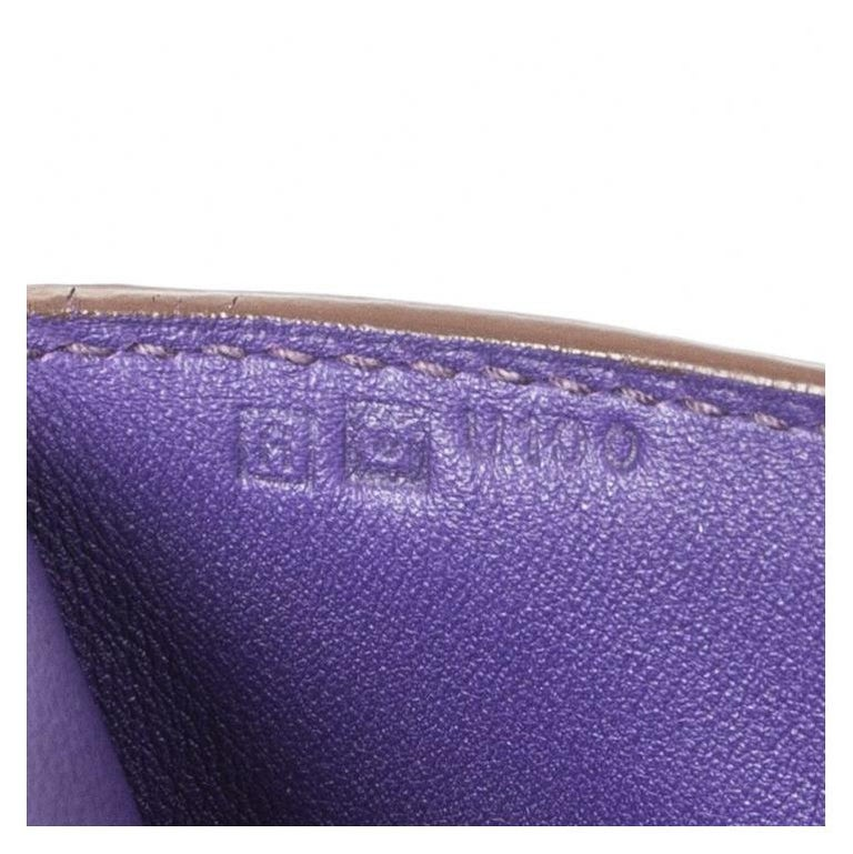 HERMES Iris purple Swift leather TOOLBOX 26 Shoulder Bag For Sale 8