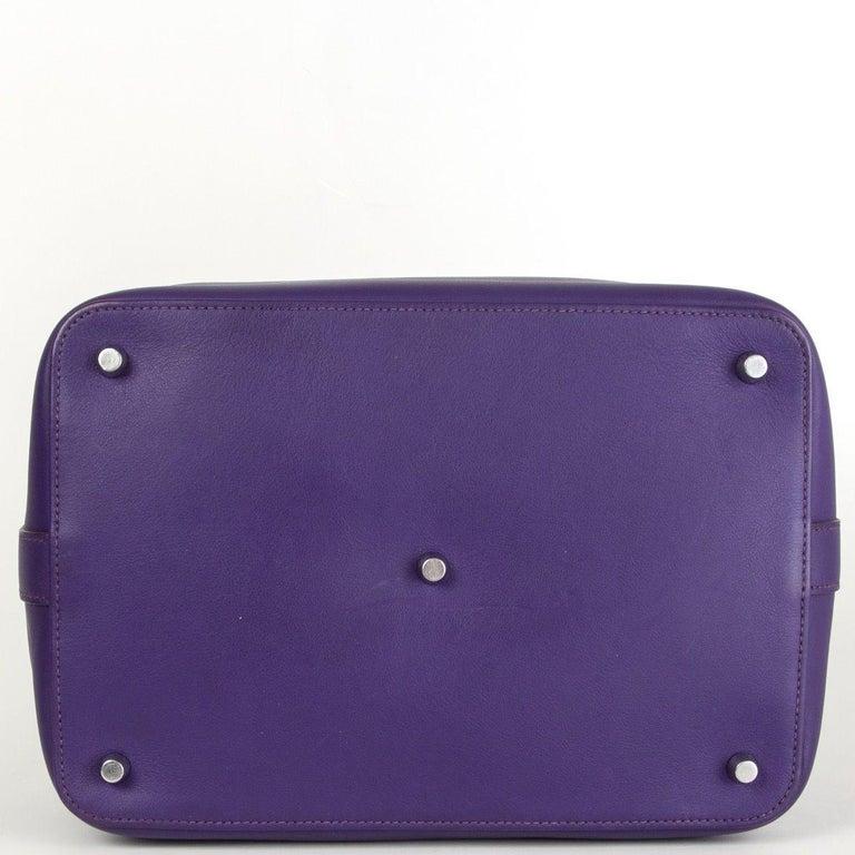 Women's HERMES Iris purple Swift leather TOOLBOX 26 Shoulder Bag For Sale