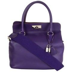 HERMES Iris purple Swift leather TOOLBOX 26 Shoulder Bag