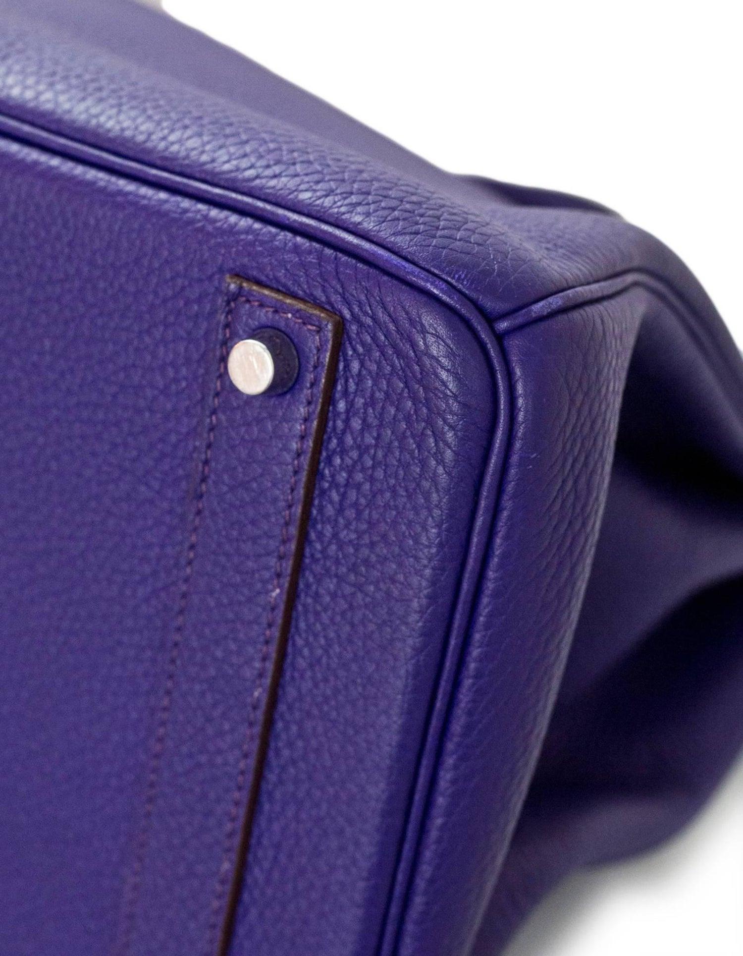 f6fbacf24f Hermes Iris Togo Leather 40cm Birkin Bag with Rain Coat For Sale at 1stdibs