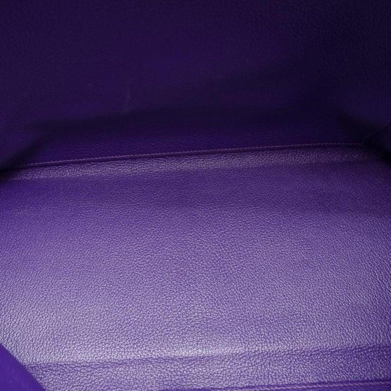 Hermes Iris Togo Leather Gold Hardware Kelly Retourne 40 Bag For Sale 1