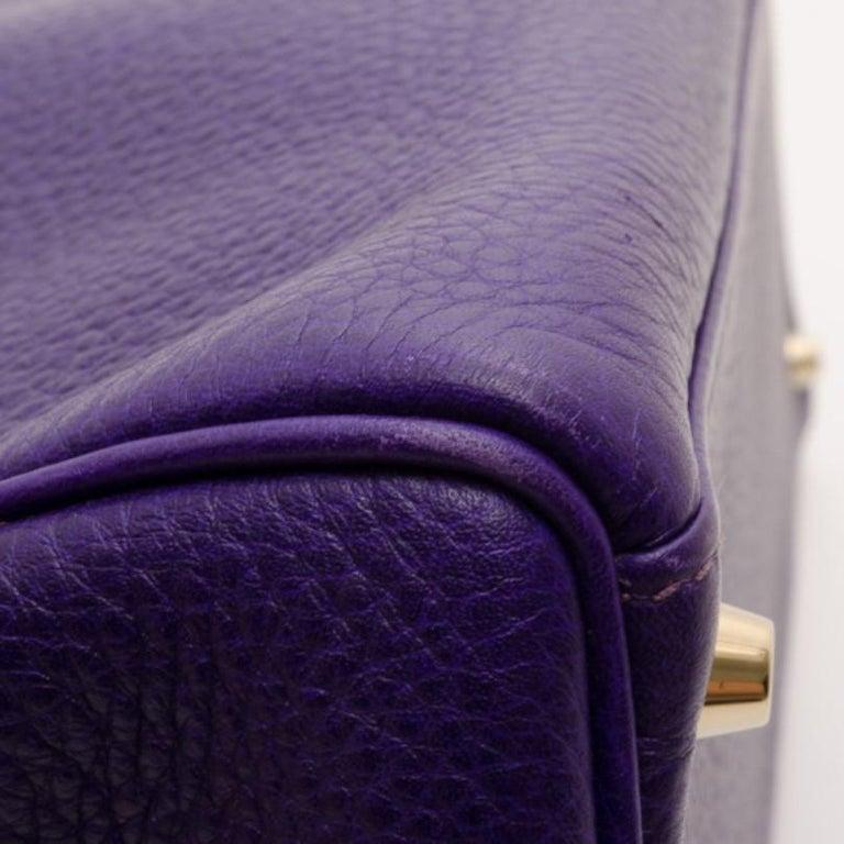 Hermes Iris Togo Leather Gold Hardware Kelly Retourne 40 Bag For Sale 3