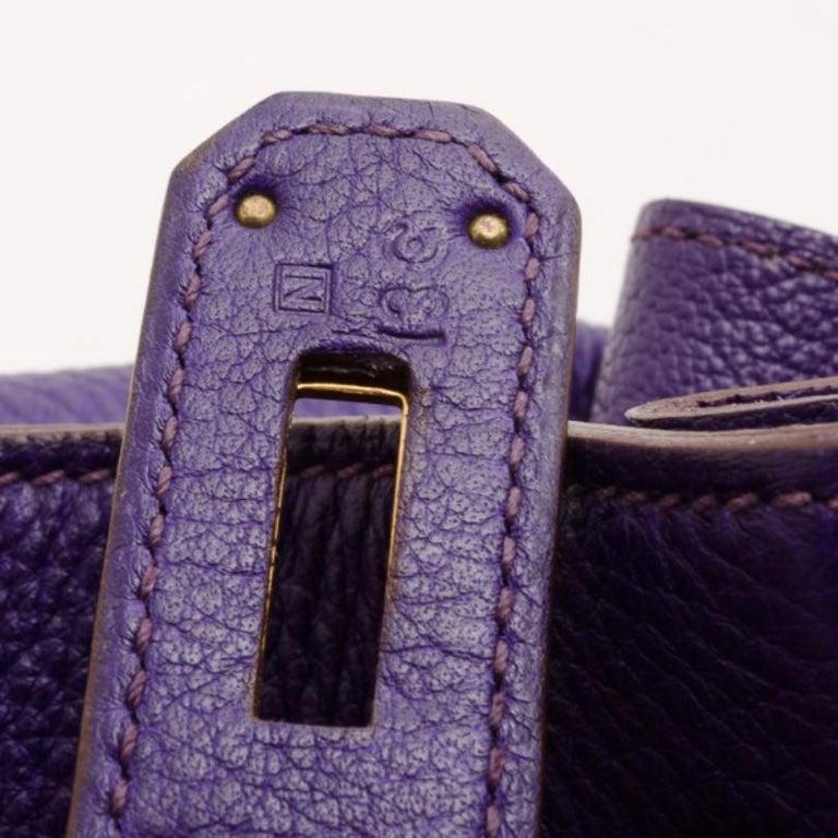 Hermes Iris Togo Leather Gold Hardware Kelly Retourne 40 Bag For Sale 4