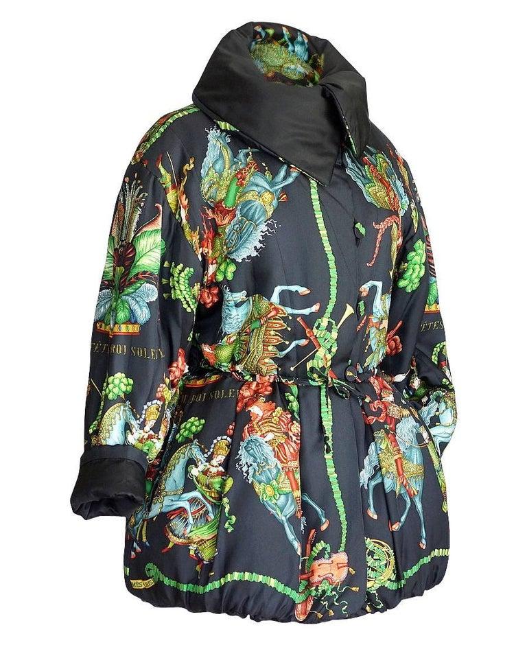 Women's Hermes Jacket Remarkable Vintage Les Fetes Du Roi Soleil Reversible 38  For Sale