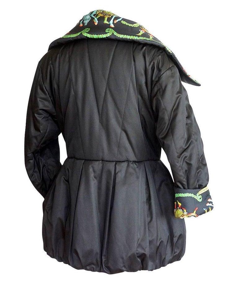 Hermes Jacket Remarkable Vintage Les Fetes Du Roi Soleil Reversible 38  For Sale 2
