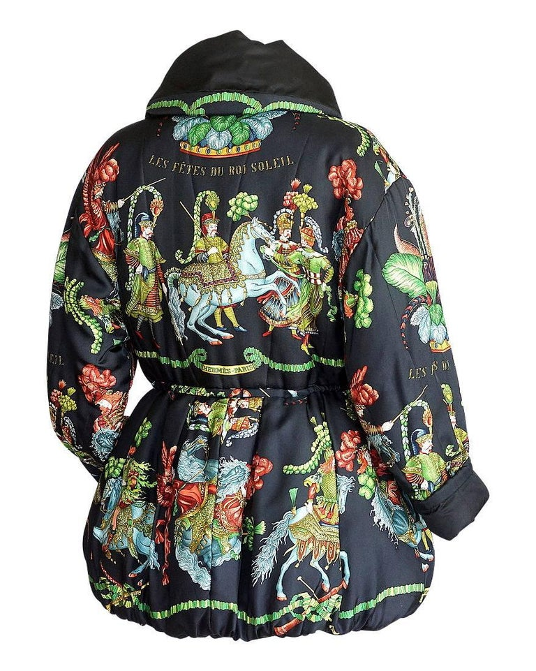 Hermes Jacket Remarkable Vintage Les Fetes Du Roi Soleil Reversible 38  For Sale 3