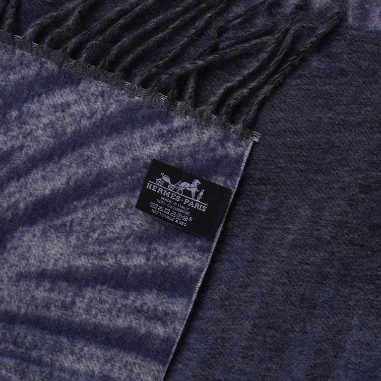 Hermes Jaguars Du Bresil Blanket Bleu Cashmere New w/ Box For Sale 9