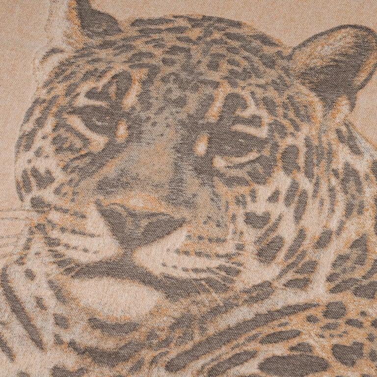 Brown Hermes Jaguars Du Bresil Blanket Naturel Cashmere New w/ Box For Sale