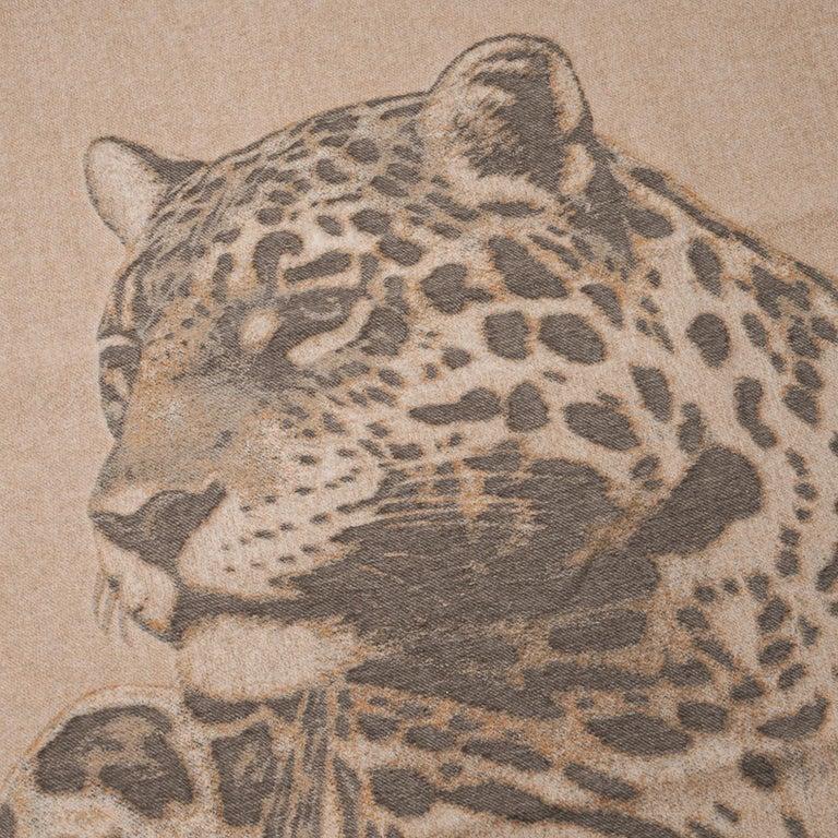 Hermes Jaguars Du Bresil Blanket Naturel Cashmere New w/ Box For Sale 2
