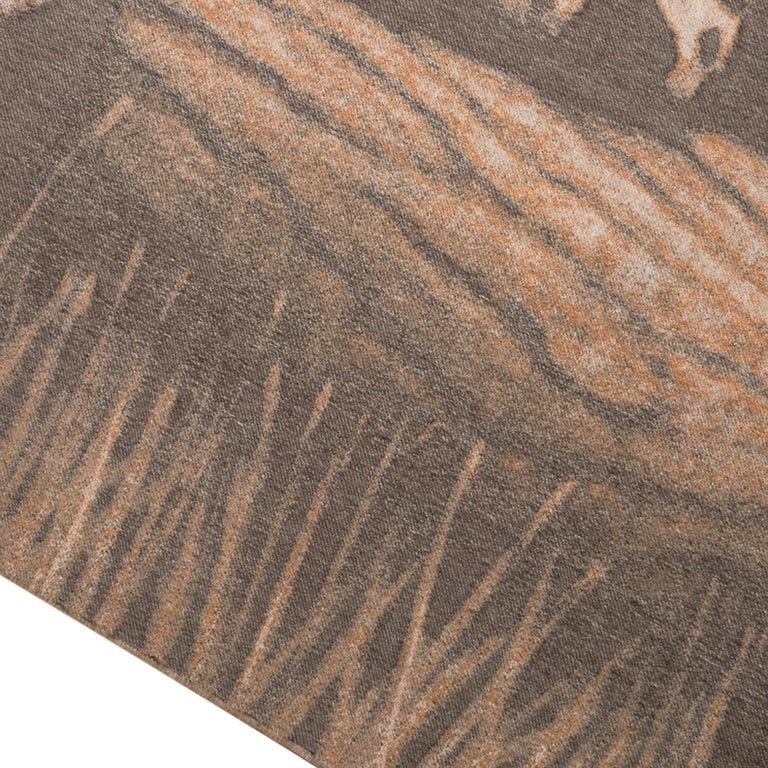 Hermes Jaguars Du Bresil Blanket Naturel Cashmere New w/ Box For Sale 4