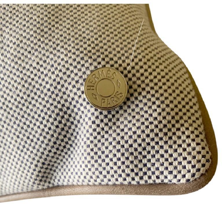Gray Hermes Jardin d'Osier Silk Blend Set of Two Cushions For Sale