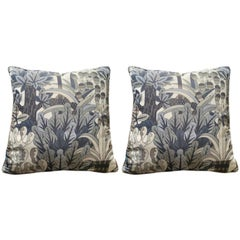 Hermes Jardin d'Osier Silk Blend Set of Two Cushions