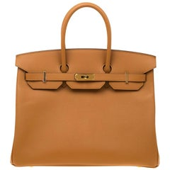 Hermes Jaune d'or Epsom Leather Gold Hardware Birkin 35 Bag