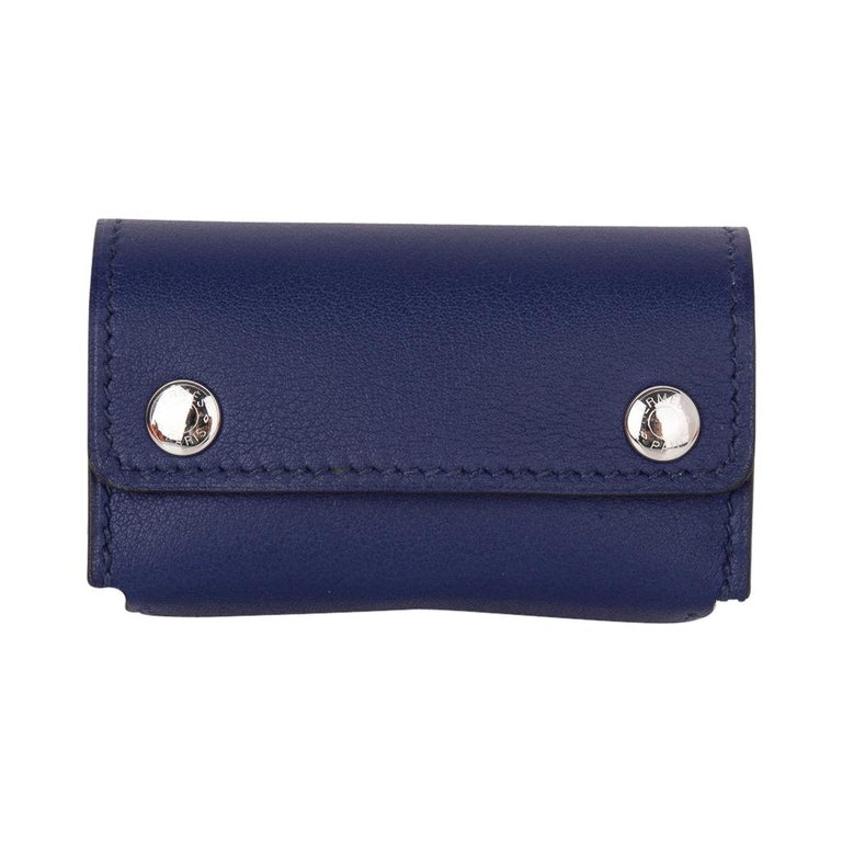 Hermes Jeu de Dominos In the Pocket Blue Encre Swift Leather New In New Condition For Sale In Miami, FL