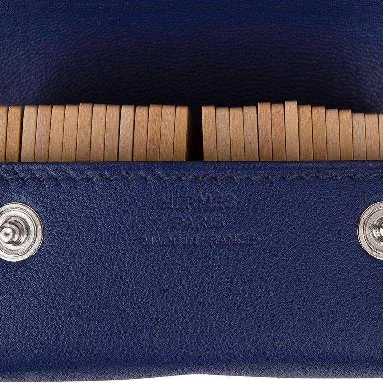 Hermes Jeu de Dominos In the Pocket Blue Encre Swift Leather New For Sale 2