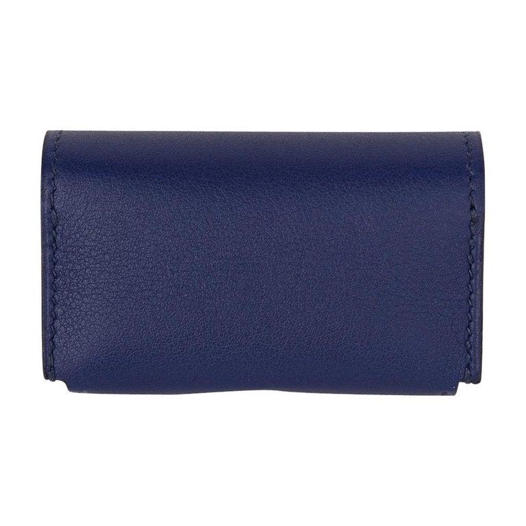 Hermes Jeu de Dominos In the Pocket Blue Encre Swift Leather New For Sale 3