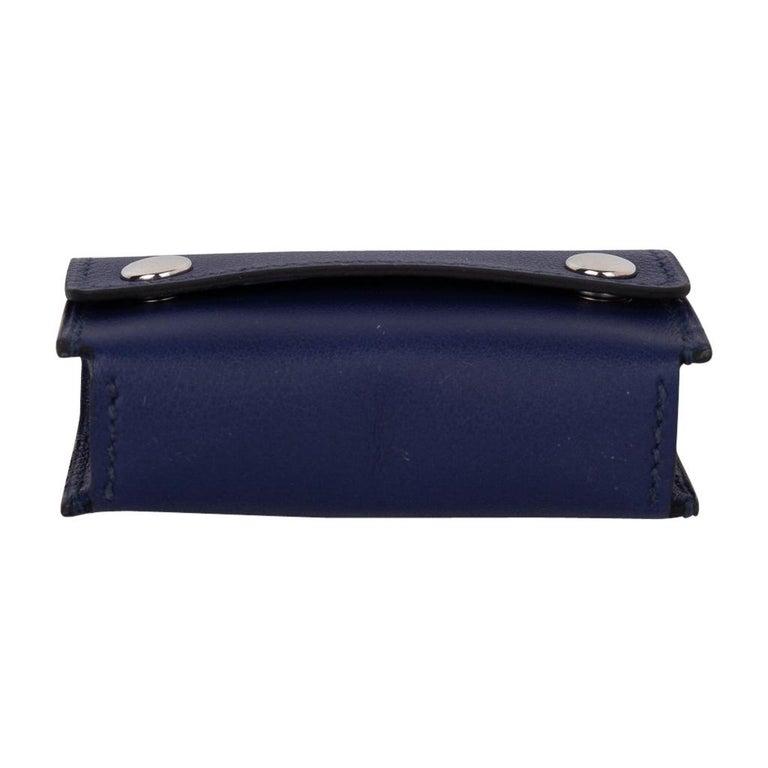 Hermes Jeu de Dominos In the Pocket Blue Encre Swift Leather New For Sale 5