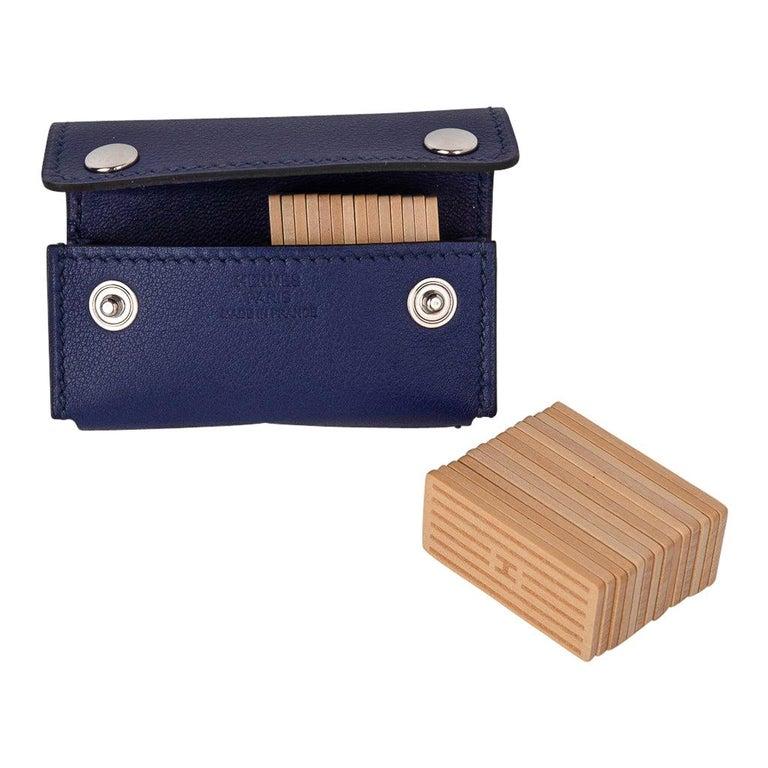 Hermes Jeu de Dominos In the Pocket Blue Encre Swift Leather New For Sale