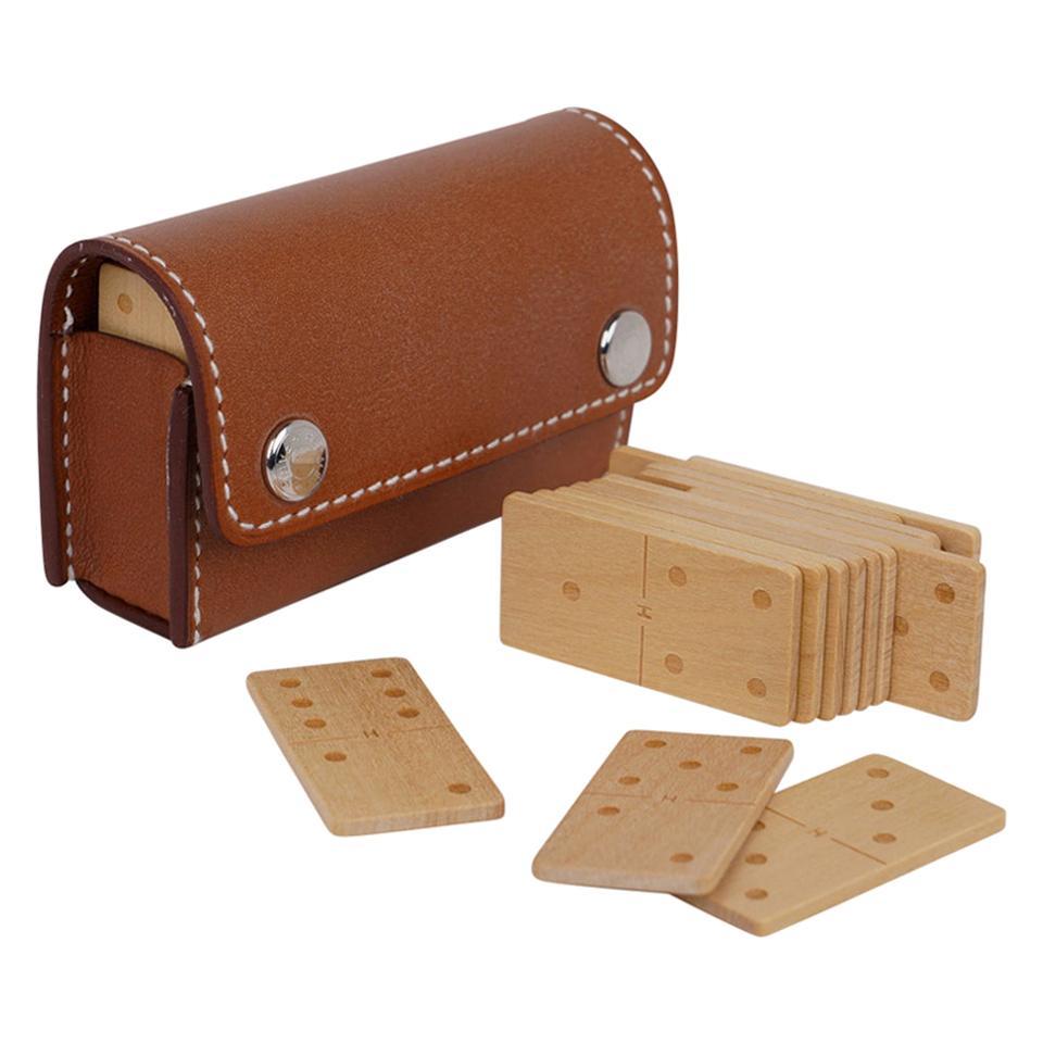 Hermes Jeu de Dominos In the Pocket Gold Swift Leather New