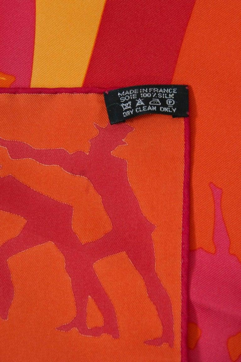 Hermès Jeux d'Ombres Silk Scarf For Sale 6