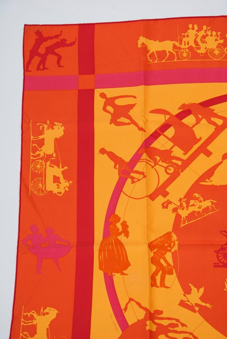 Hermès Jeux d'Ombres Silk Scarf In Excellent Condition For Sale In Alford, MA