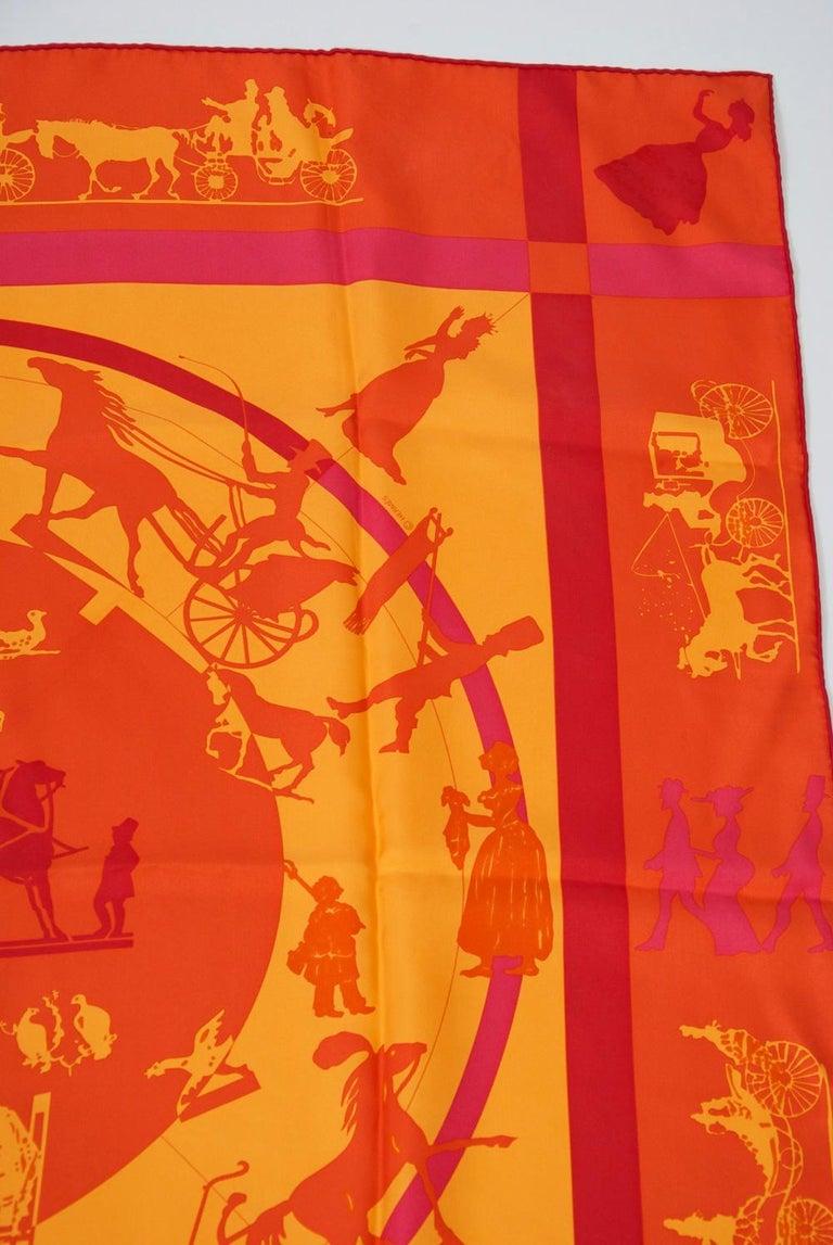 Women's or Men's Hermès Jeux d'Ombres Silk Scarf For Sale