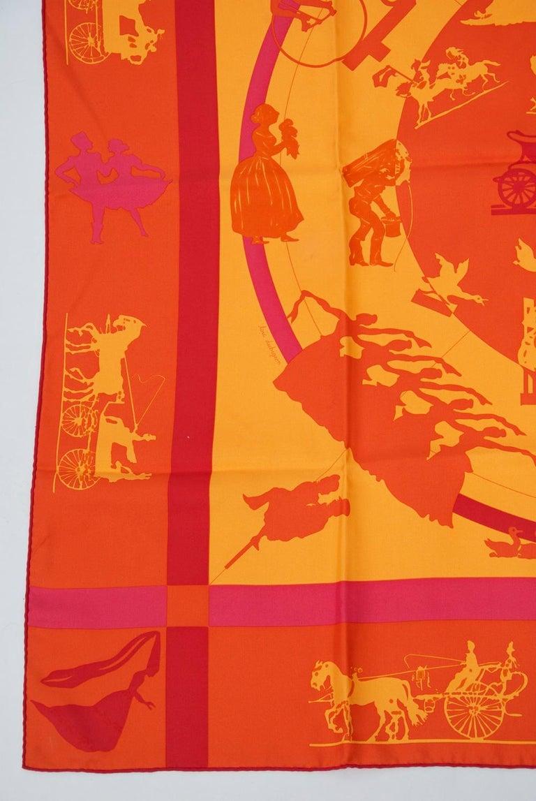 Hermès Jeux d'Ombres Silk Scarf For Sale 1