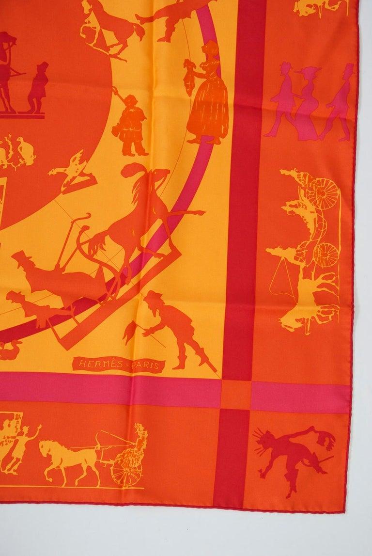 Hermès Jeux d'Ombres Silk Scarf For Sale 2