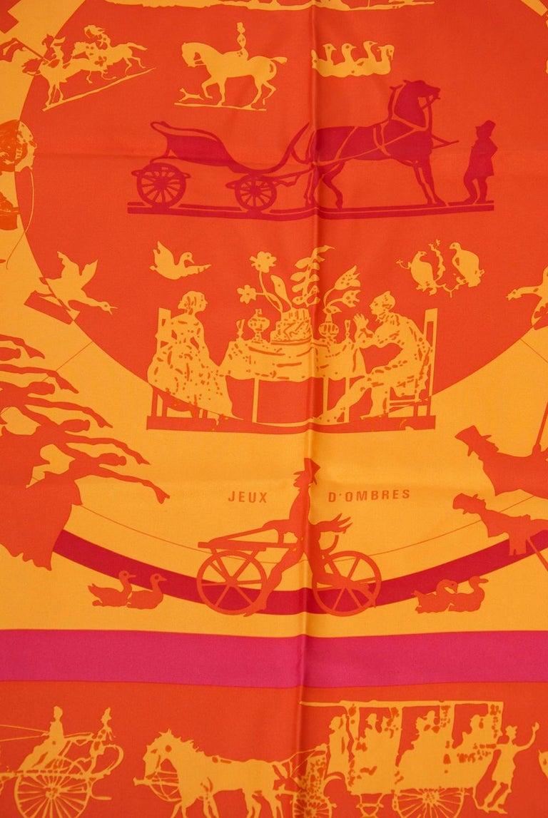 Hermès Jeux d'Ombres Silk Scarf For Sale 3
