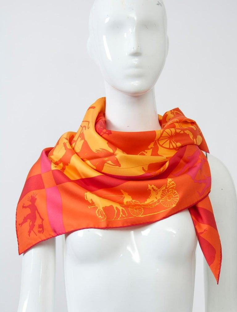 Hermès Jeux d'Ombres Silk Scarf For Sale 4