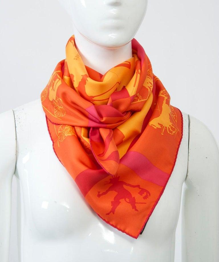 Hermès Jeux d'Ombres Silk Scarf For Sale 5
