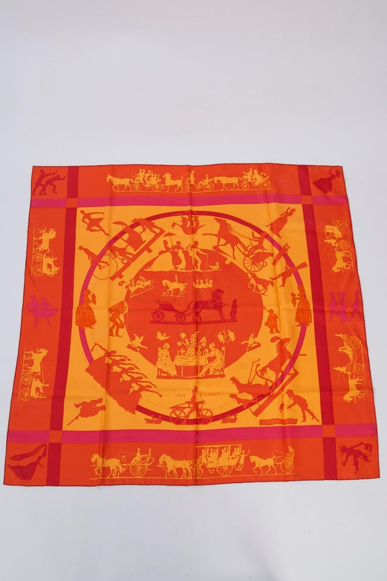 Hermès silk scarf in
