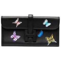 Hermès Jige Elan Black Customised Butterflies